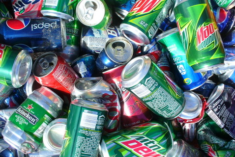 Recycling of aluminum cans