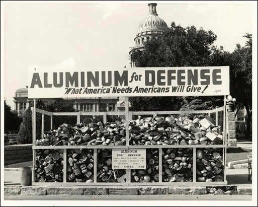 Aluminum recycling during WW2